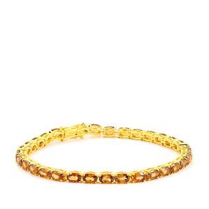 Cognac Zircon Bracelet  in Gold Vermeil 21.86cts