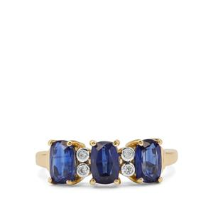 Nilamani Ring with White Zircon in 9K Gold 2.18cts