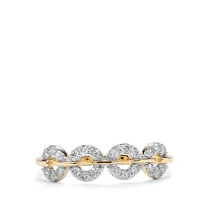 1/4ct Argyle Diamond 10K Gold Tomas Rae Ring