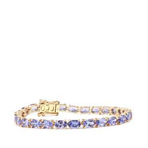 12.91ct AA Tanzanite 10K Gold Tomas Rae Bracelet