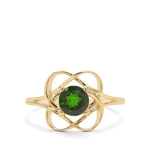 0.86ct Chrome Diopside 9K Gold Ring