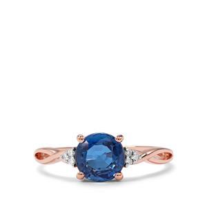 Daha Kyanite & Diamond 9K Rose Gold Ring ATGW 1.52cts