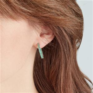 Carnaiba Brazilian Emerald Earrings in Sterling Silver 2.22cts