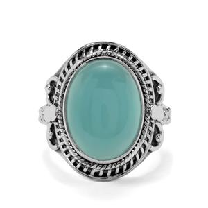9ct Imperial Aqua Chalcedony Sterling Silver Aryonna Ring