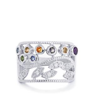 0.79ct Kaleidoscope Gemstones Sterling Silver Ring
