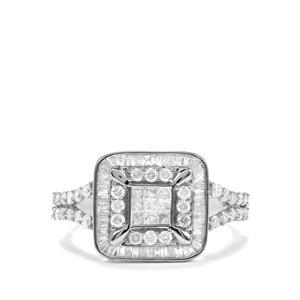 1ct Diamond 10K White Gold Tomas Rae Ring