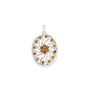 Yellow Tourmaline Pendant in Sterling Silver 1.27cts