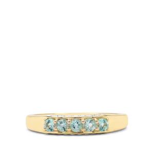 0.28ct Aquaiba Beryl 9K Gold Ring