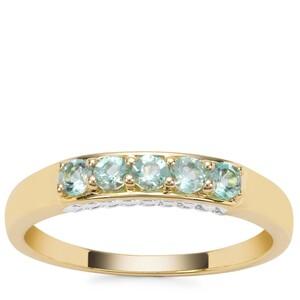 Aquaiba Beryl Ring in 9K Gold 0.28ct