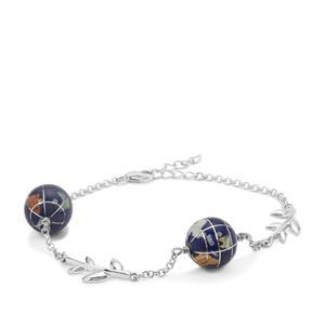 Atlas Globe Bracelet in Sterling Silver