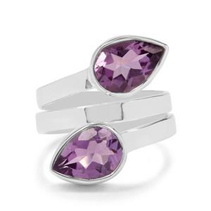 4ct Bahia Amethyst Sterling Silver Aryonna Ring