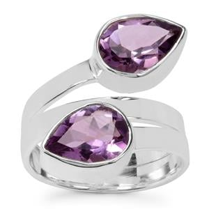 Bahia Amethyst Ring in Sterling Silver 4cts