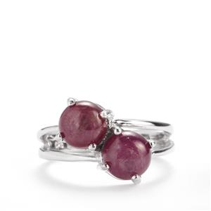 4.09ct Madagascan Star Ruby Sterling Silver Ring (F)