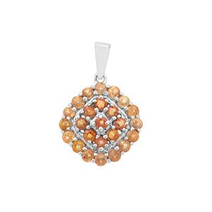 Songea Sapphire Pendant in Sterling Silver 2.32cts