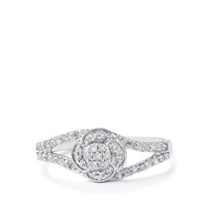 Diamond Ring  in 10k White Gold 0.25ct