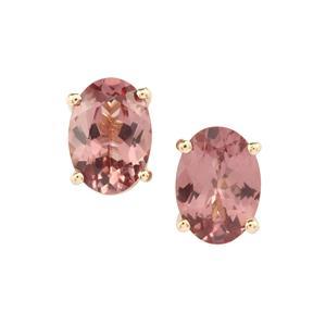 1.65ct Mahenge Pink Spinel 9K Gold Earrings