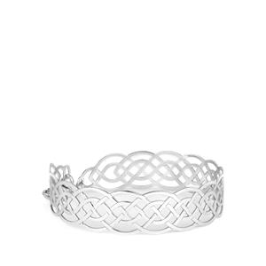 Bayeux Bangle in Rhodium Plated Sterling Silver 6.39g