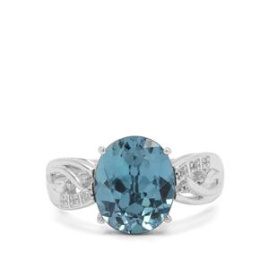 Versailles Topaz Ring with White Zircon in Sterling Silver 4.53cts