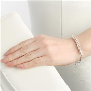 4.65ct Zambezia Morganite Sterling Silver Bracelet