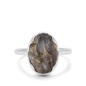 5.55ct Paul Island Labradorite Sterling Silver Ring