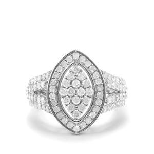 1.45ct Diamond 10K White Gold Tomas Rae Ring