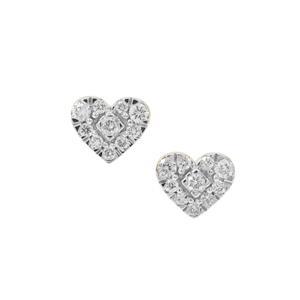 1/3ct Argyle Diamond 9K Gold  Heart Earrings