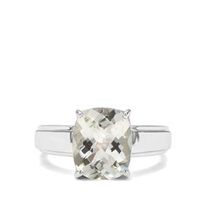 3.65ct Prasiolite Sterling Silver Ring