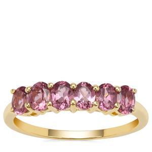 Malaya Garnet Ring in 9K Gold 1.34cts