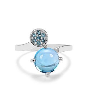 Swiss Blue & Marambaia London BlueTopaz Sterling Silver Ring ATGW 3.72cts