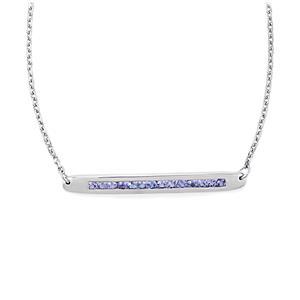 1.02ct Tanzanite Sterling Silver Bridge Necklace
