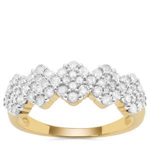 Diamond Ring in 9K Gold 0.80ct