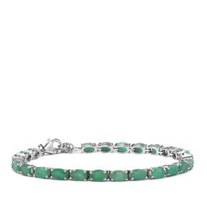 10.54ct Carnaiba Brazilian Emerald Sterling Silver Bracelet