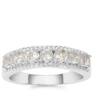 Plush Diamond Sunstone Ring in Sterling Silver 0.78ct
