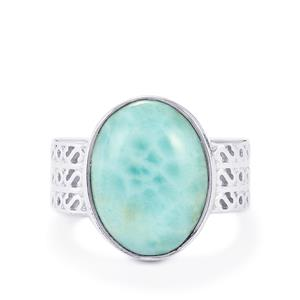 Larimar Ring in Sterling Silver 8.02cts