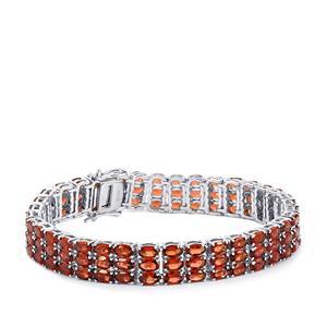 Mozambique Garnet Bracelet in Sterling Silver 30.56cts