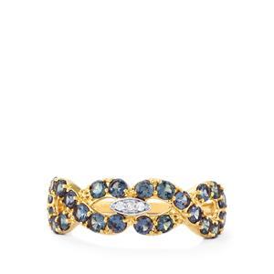 Bekily Colour Change Garnet & Diamond 10K Gold Ring ATGW 1.43cts