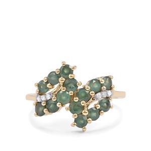 Alexandrite & Diamond 9K Gold Ring ATGW 1.44cts