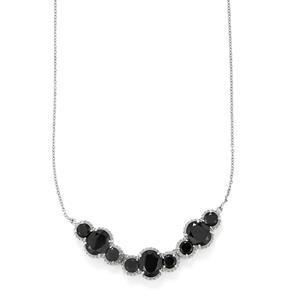 22.57ct Black Spinel Sterling Silver Necklace