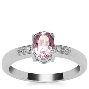 Mawi Kunzite Ring with Diamond in Sterling Silver 1.31cts