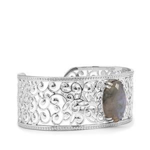 11.83ct Labradorite Sterling Silver Cuffs