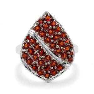 2ct Anthill Garnet Sterling Silver Ring