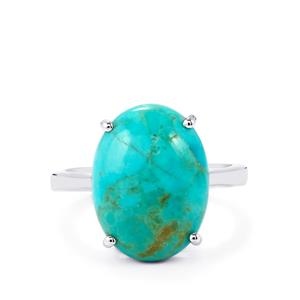 Cochise Turquoise Ring in Sterling Silver 7.11cts