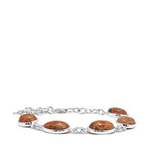 27.85ct Mexican Jasper Sterling Silver Aryonna Bracelet