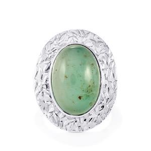 12.59ct Aquaprase™ Sterling Silver Ring