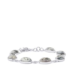 36.74ct Siberian Dendrite Quartz Sterling Silver Aryonna Bracelet