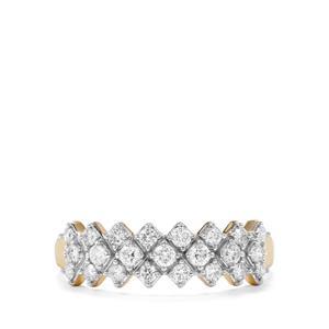 Diamond Ring in 18k Gold 0.52ct