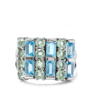 Odisha Kyanite & Swiss Blue Topaz Sterling Silver Ring ATGW 3.98cts