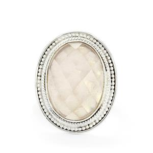 8.82ct Rose Quartz Sterling Silver Aryonna Ring