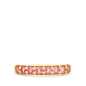 0.60ct Natural Pink Tourmaline 10K Gold Ring