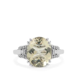Serenite Ring with Diamond in 18K White Gold 4.23cts